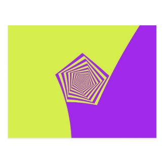 Spiral vykort för citron och för lila