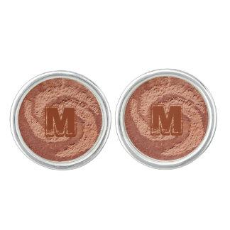 Spirala Cufflinks för mall för stenkonstMonogram