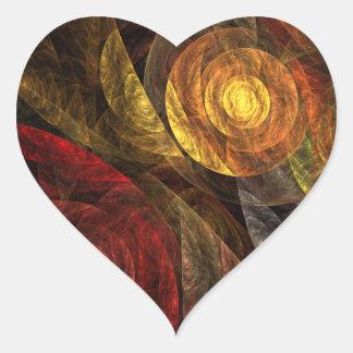 Spiralen av klistermärken för hjärta för