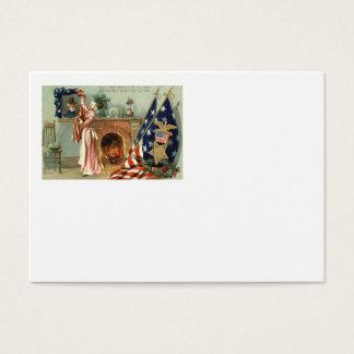 Spis för porträtt för US-flaggamedalj Visitkort