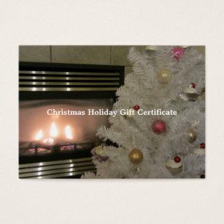 Spis- och julgranpresentkort visitkort