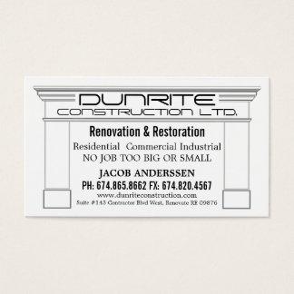 Spis Täcka Konstruktion Reno Företag Visitkort