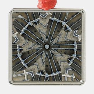 Spisgaller 2015 silverfärgad fyrkantigt julgransprydnad