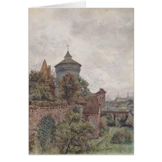 Spittleren i Nuremberg av Rudolf von Alt Hälsningskort