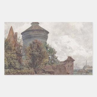 Spittleren i Nuremberg av Rudolf von Alt Rektangulärt Klistermärke