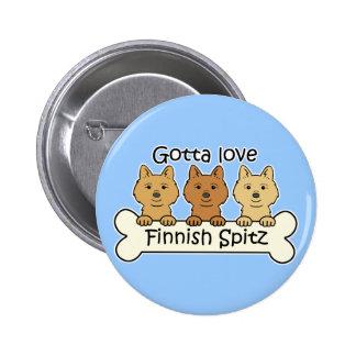 Spitz för finska tre knapp