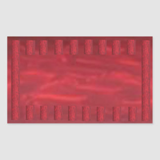Splarkle för gnistra för kickenergiblod röd gräns rektangulärt klistermärke
