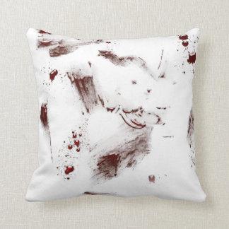 Splattered blod kudder dekorativ kudde