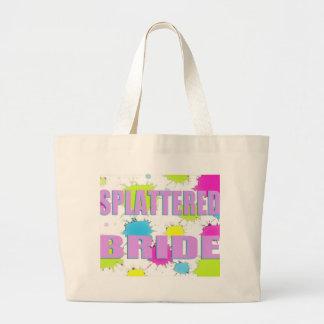 splattered brud tote bags