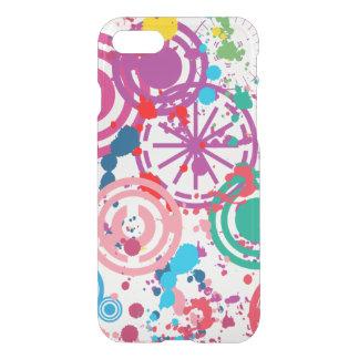 Splattered för Clearly™ för iPhone 7 fodral