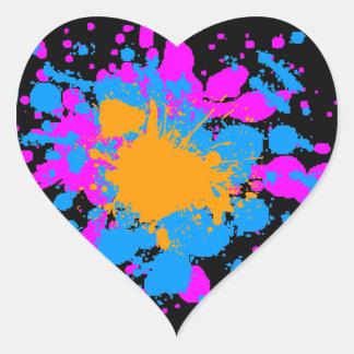 Splatteren för den Corey tiger80-tal målar Hjärtklistermärken