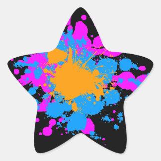 Splatteren för den Corey tiger80-tal målar Stjärnformat Klistermärke