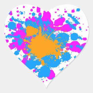 Splatteren för den Corey tiger80-tal målar Hjärtformat Klistermärke