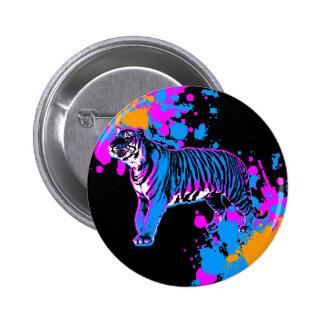 Splatteren för tigern för den Corey tiger80-tal Standard Knapp Rund 5.7 Cm