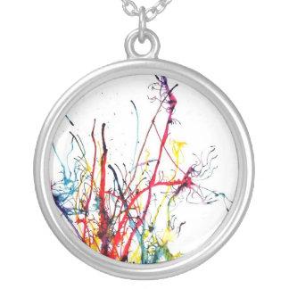 Splatteren målar Neclace Silverpläterat Halsband