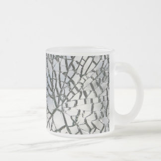 Splittrad glass struktur frostad glasmugg
