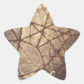 Splittrat exponeringsglas och solljus stjärnformat klistermärke