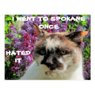 Spokane? Hatat det Vykort