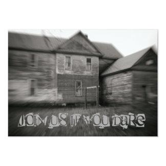Spökat hus spöklika gammala bekymrade Halloween 12,7 X 17,8 Cm Inbjudningskort