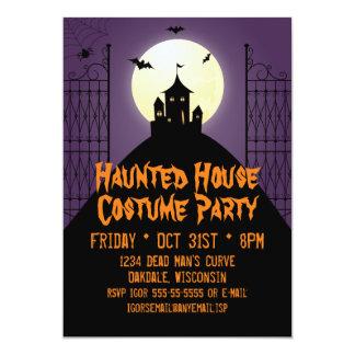 Spökat husdräktparty Halloween 12,7 X 17,8 Cm Inbjudningskort