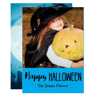 Spökat kort för ZombiekyrkogårdHalloween foto 12,7 X 17,8 Cm Inbjudningskort