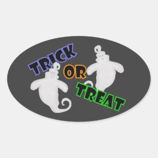 Spöke: Bus eller godisklistermärkear Ovalt Klistermärke