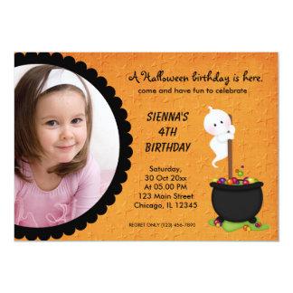 SpökeHalloween födelsedag 12,7 X 17,8 Cm Inbjudningskort