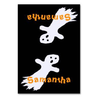 Spöken lurar Tented ställekort för halloween fest Bordsnummer