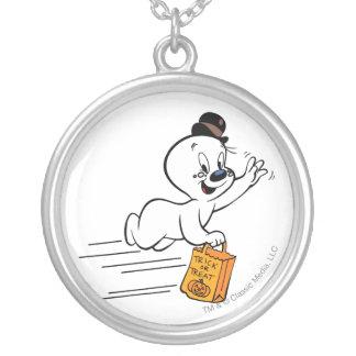 Spöklik bus eller godis 1 silverpläterat halsband
