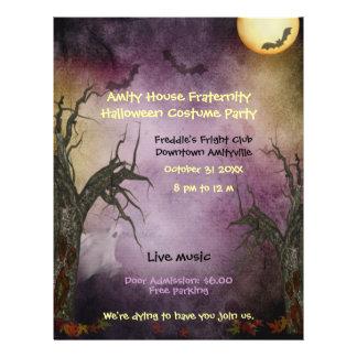 Spöklik halloween festreklamblad reklamblad