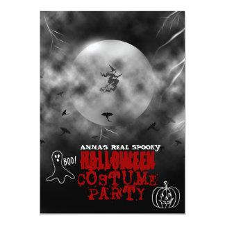 Spöklik inbjudan för Halloween dräktparty