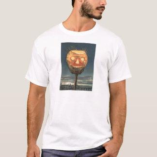 Spöklik ljus jack o lanternpumpa tee shirt
