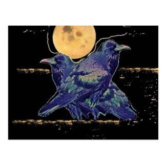 Spöklik måne för Ravens vid Sharles Vykort