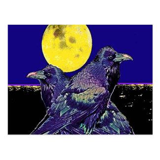 Spöklik måne för Ravens @ vid Sharles Vykort