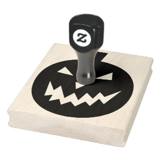"Spöklik pumpa Halloween 4"" x 5"" Rubber frimärke Stämpel"