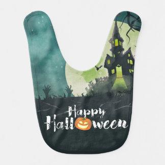 Spöklik spökad himmel för husdräktnatt Halloween Hakklapp