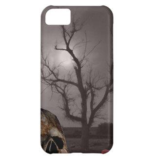 Spöklika kyrkogårdgravstenar och skallefoto Mashup iPhone 5C Mobil Skydd