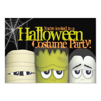 Spöklika monster & party för mammaHalloween dräkt 12,7 X 17,8 Cm Inbjudningskort