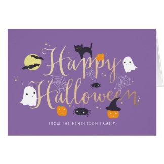 Spöklika nötkreatur Halloween Hälsningskort