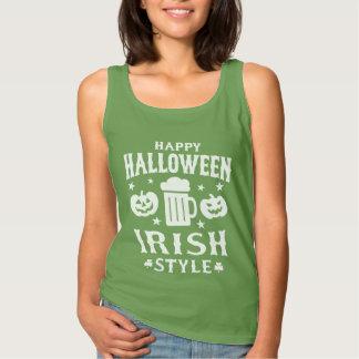 Spöklika pumpor & irländsk Halloween för öl slogan Linne
