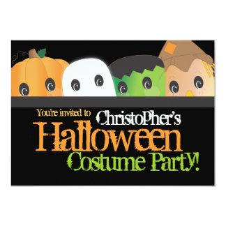 Spöklikt gulligt Halloween dräktparty 12,7 X 17,8 Cm Inbjudningskort