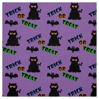 Spöklikt kattungebus eller godisHalloween tyg 2