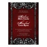 Spöklikt röd för gotisk Victorian, svart & Inbjudan