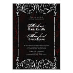 Spöklikt röd för gotisk Victorian, svart & Kort För Inbjudningar