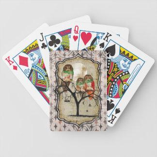 Spöklikt rosa ugglakortdäck spelkort