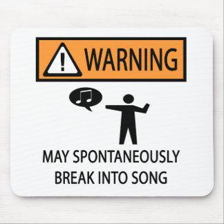 Spontan sångare musmatta