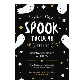 Spooktacular halloween festinbjudan 12,7 x 17,8 cm inbjudningskort