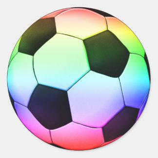 Sport för fotboll för Colorfull fotboll | Runt Klistermärke