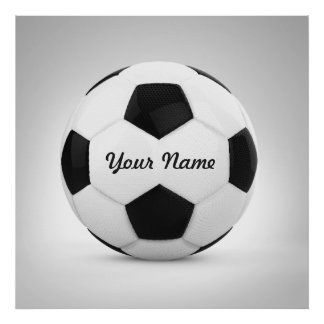 Sport för namn för fotbollbollpersonlig poster