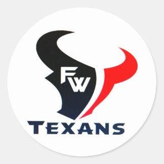 Sportar för Fort Worth Texansungdom Runt Klistermärke